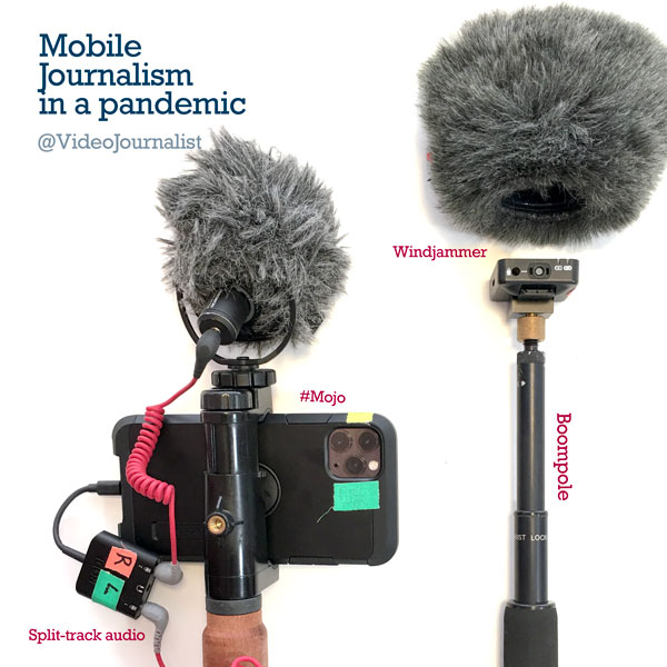 Interviewing from 6 feet away – a MOJO rig for the Pandemic